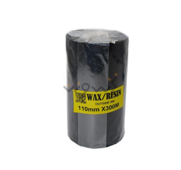 black wax resin ribbon 110*300
